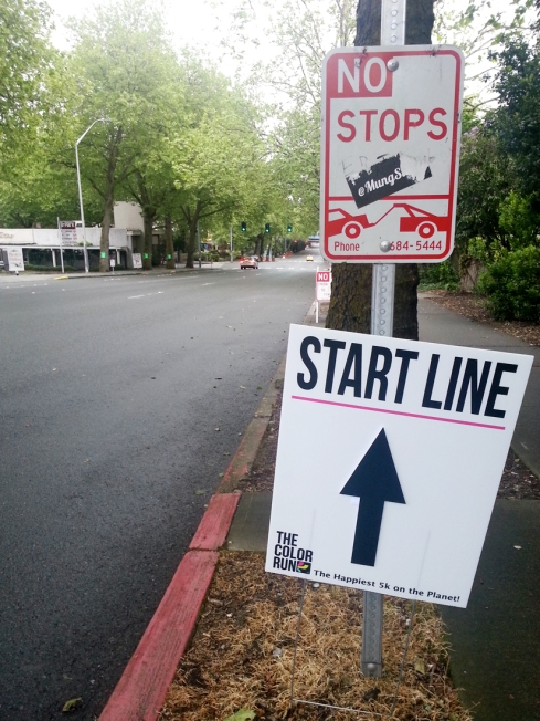 I spotted the START LINE signage on the way to meet up with Amber for coffee