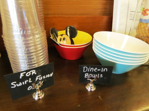 "One of the cute little touches that sets this place apart is their ability to ""bring it home"" with some dine-in melamine bowls!"
