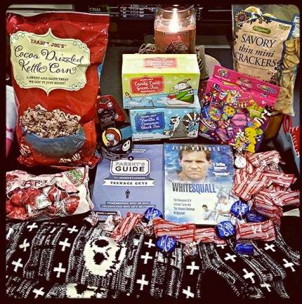 I love my stocking stuffers! :D // My fave kettle corn, peppermint chocolates, Jack Skellington socks & NBC bracelets, a youth ministry book, my fave holiday teas, lisa frank erasers, White Squall (a movie I've been wanting to own for years! SO GOOD!), my fave mini crackers