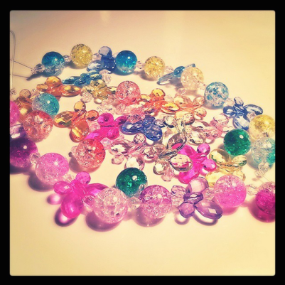 Today's #DoOverBook Challenge Craft: Beaded bracelets for my little love bug nieces! ♥